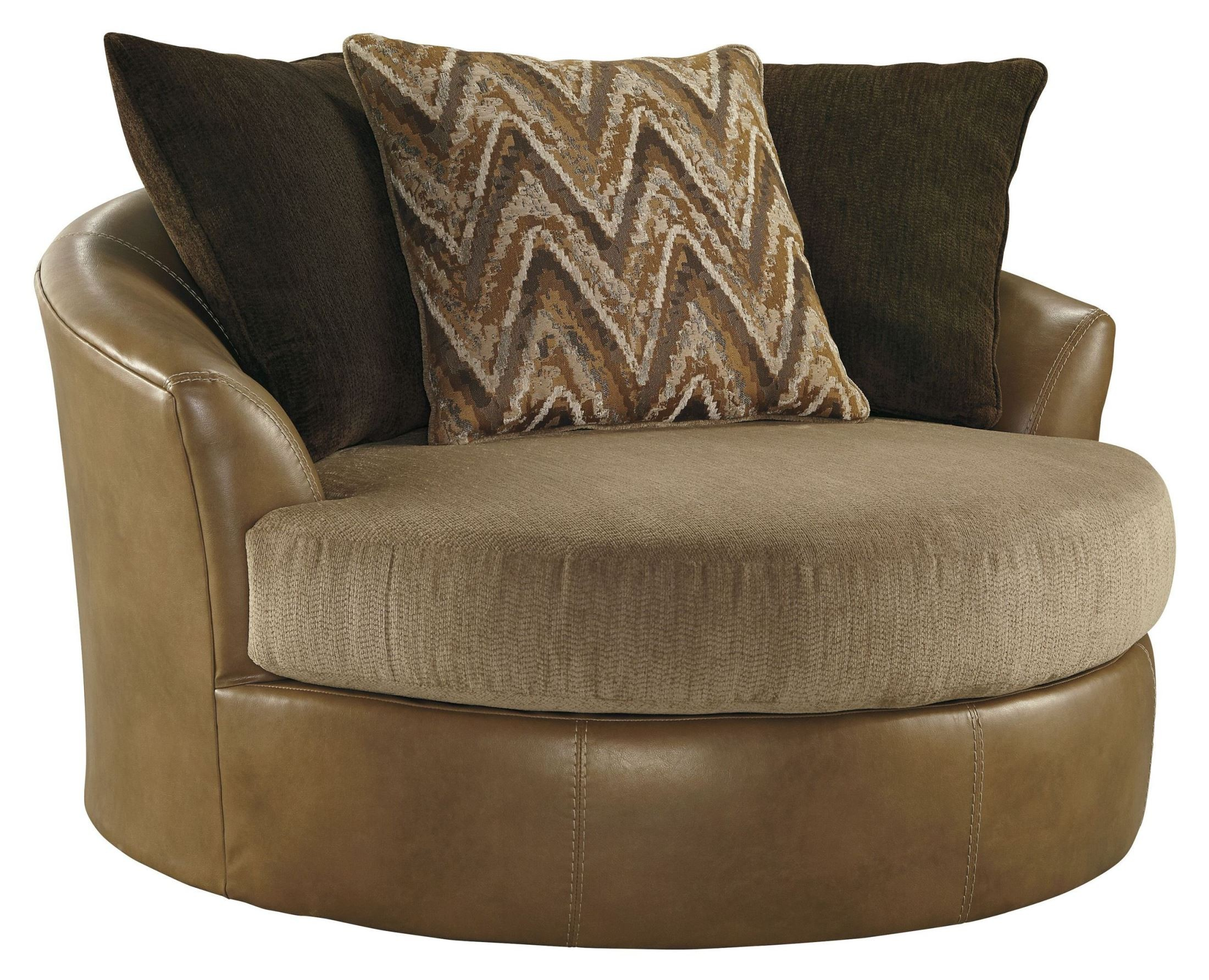 Oversized Accent Chair Declain Sand Oversized Swivel Accent Chair From Ashley