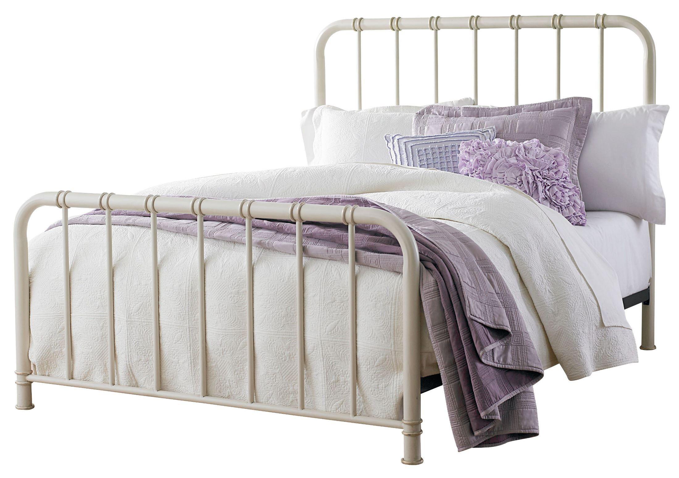 Tristen White Queen Metal Bed From Standard Furniture