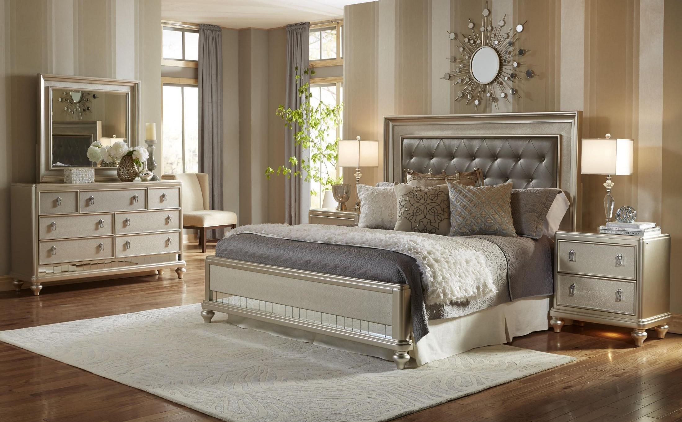 Diva Panel Bedroom Set from Samuel Lawrence 8808255257400  Coleman Furniture