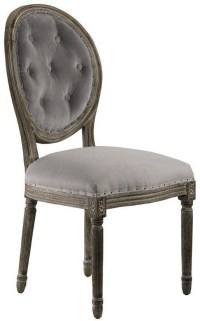 Louis Weathered Gray Side Chair Set of 2 from Curations ...