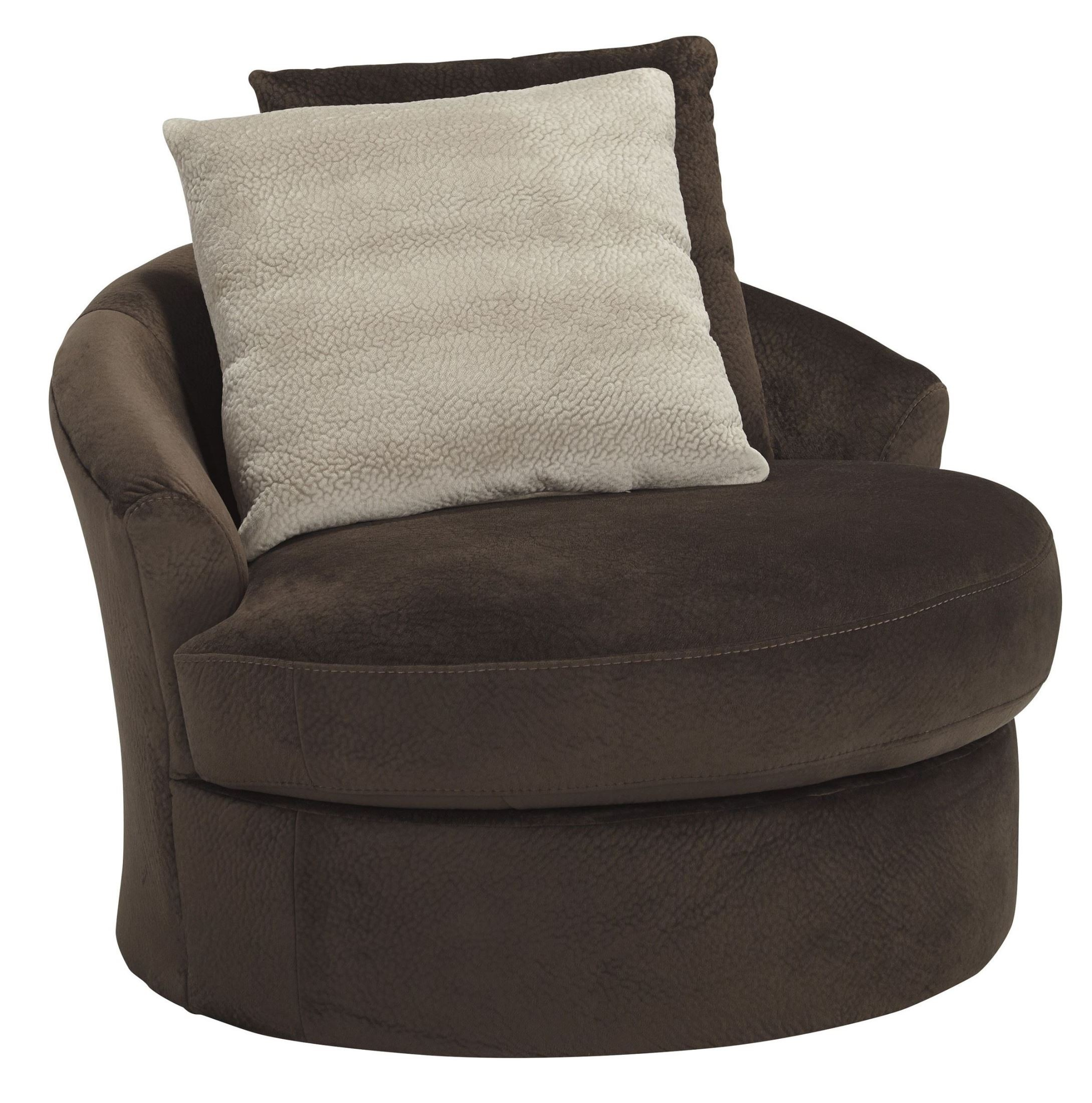 accent swivel chairs outdoor wicker rocking chair cushions dahlen chocolate from ashley 8830244