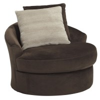 Dahlen Chocolate Swivel Accent Chair from Ashley (8830244 ...