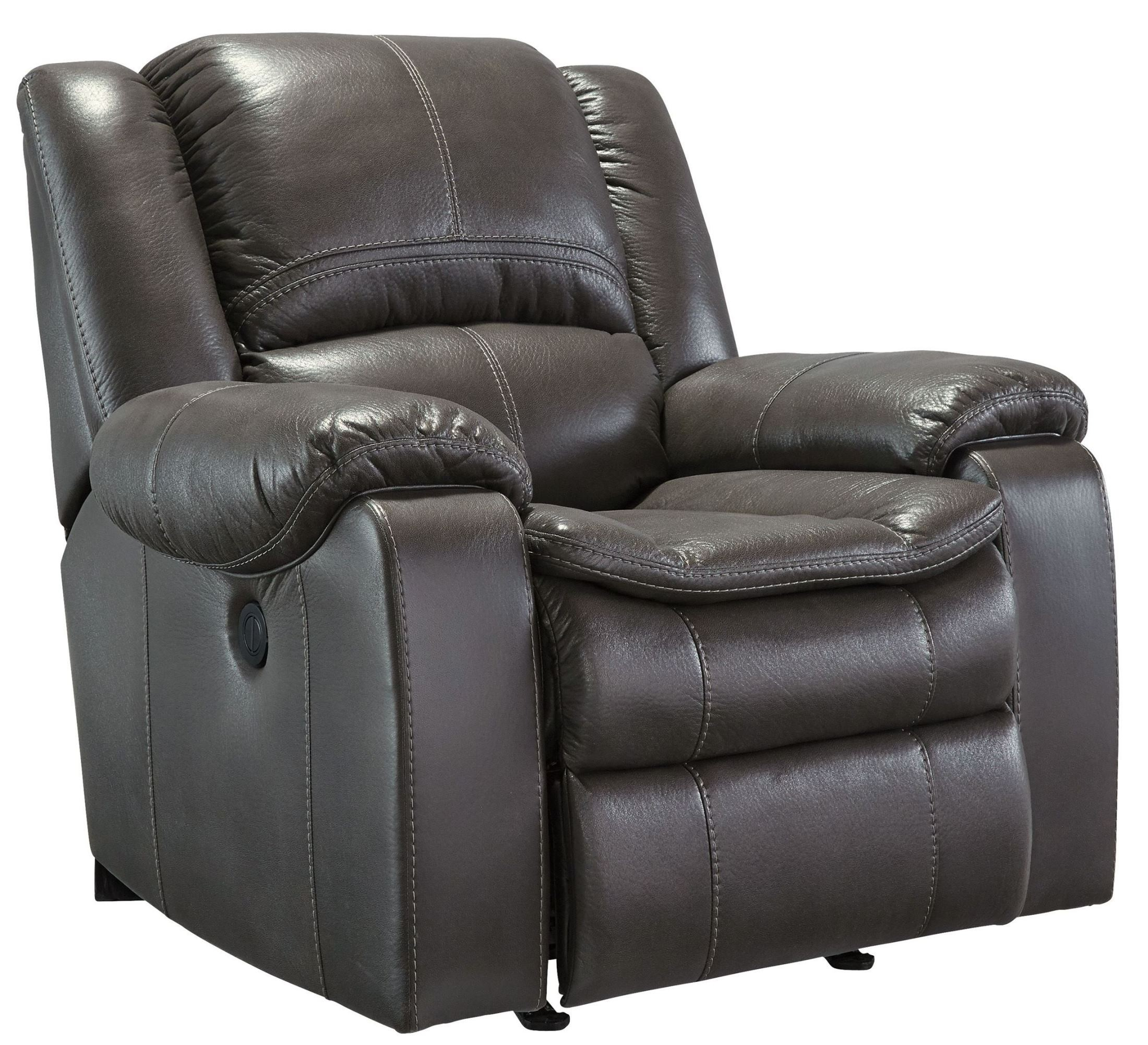 Gray Recliner Chair Long Knight Gray Power Rocker Recliner From Ashley