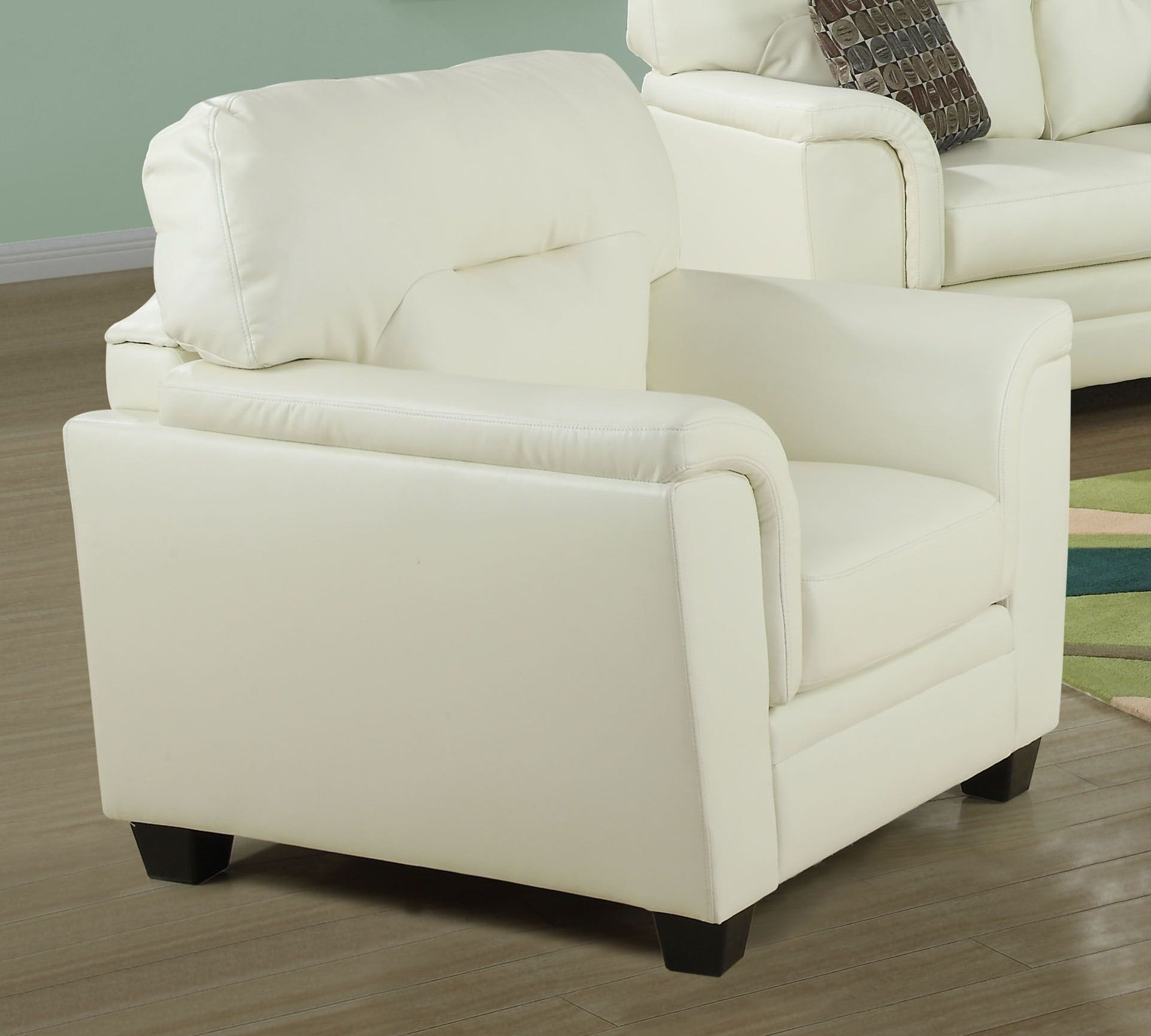 Ivory Chair from Monarch 8961IV  Coleman Furniture