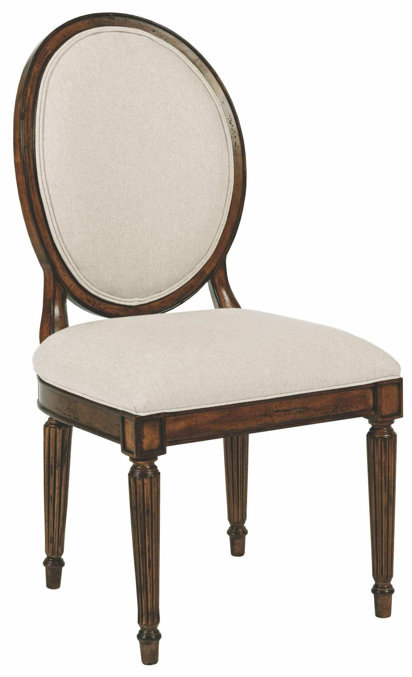 Oval Back Chair Artisans Shoppe Tobacco Oval Back Side Chair Set Of 2 From