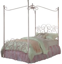 Princess Pink Full Metal Canopy Bed from Standard ...