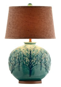 Turquoise Green Ceramic Table Lamp from Steinworld (90030 ...