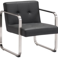 White Leather Accent Chair Canada Double Anti Gravity Varietal Black Arm From Zuo Mod 900641 Coleman