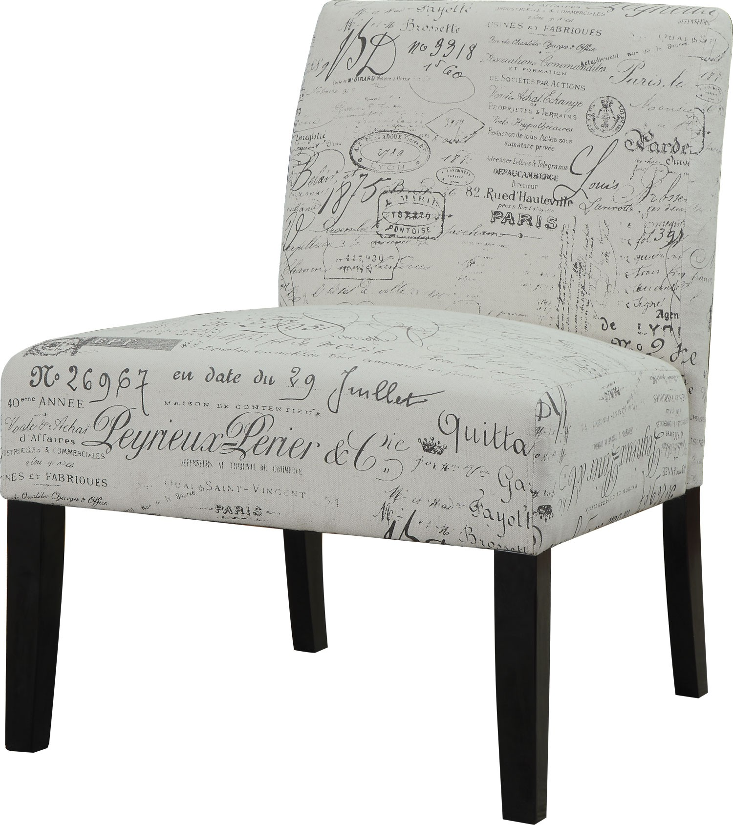 French Script Chair Finley French Script Pattern Accent Chair From Coaster