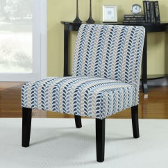 Blue Pattern Accent Chair Table With Chairs For Toddlers Finley Beige Leaf From Coaster