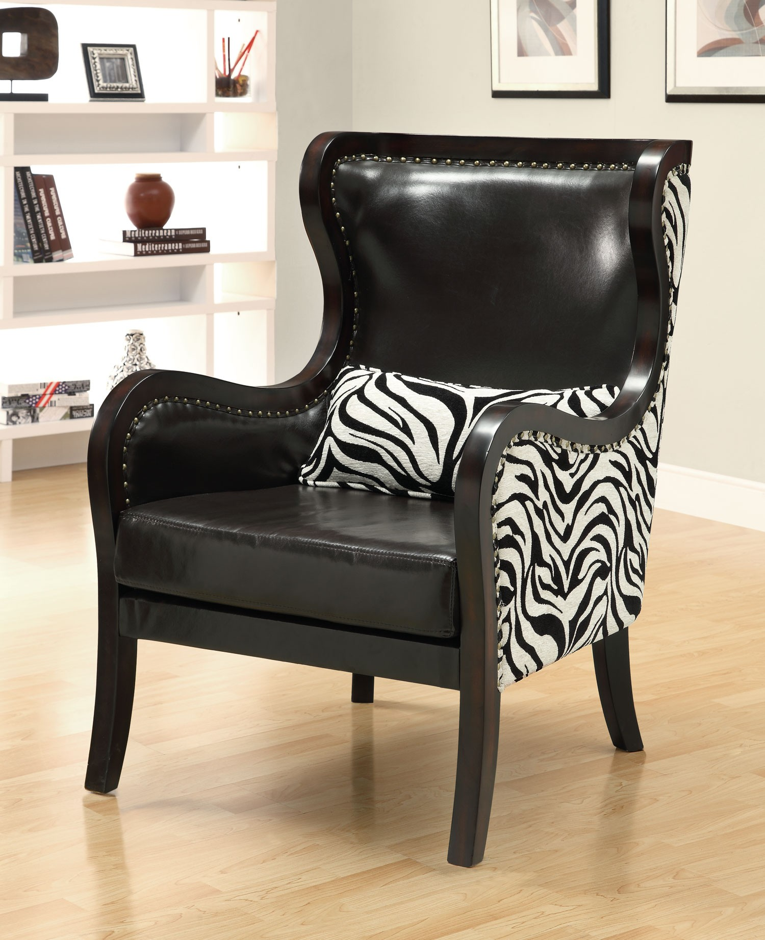 Zebra Accent Chair 902069 Black Zebra Pattern Accent Chair From Coaster