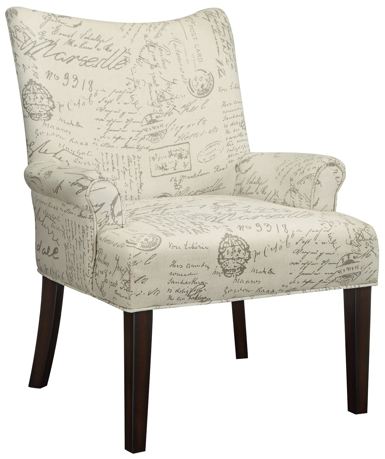 Pattern Chair French Script Pattern Accent Chair From Coaster 902149