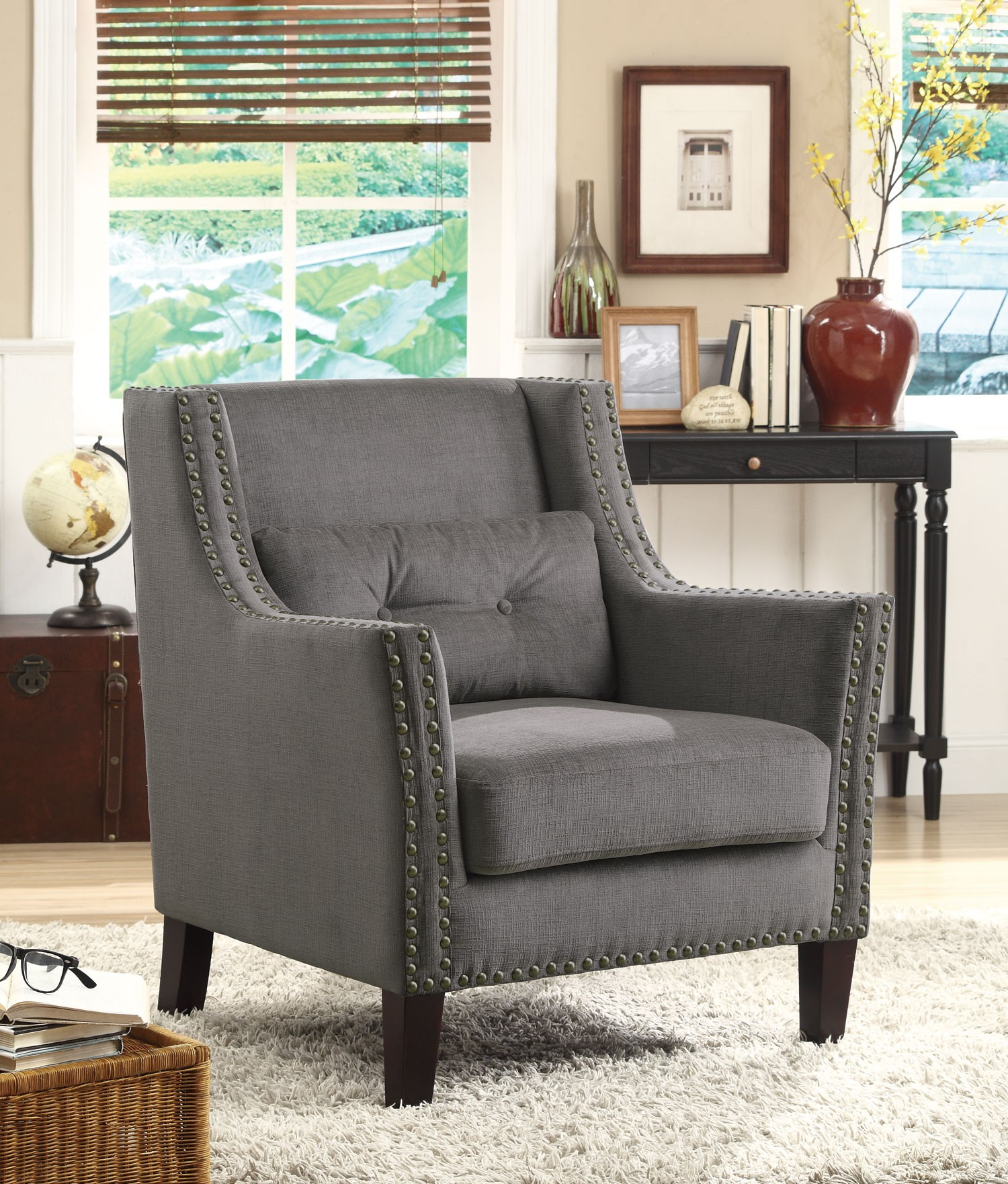 Grey Accent Chairs 902170 Grey Accent Chair From Coaster 902170 Coleman