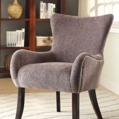 Grey And White Accent Chair Staples Mats Hardwood Floors 902504 Upholstered From Coaster