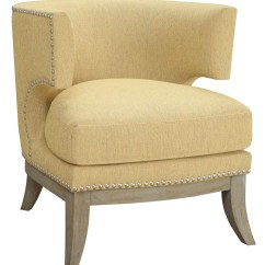 Accent Chair Yellow Swivel Vitra Bumblebee Chenille From Coaster