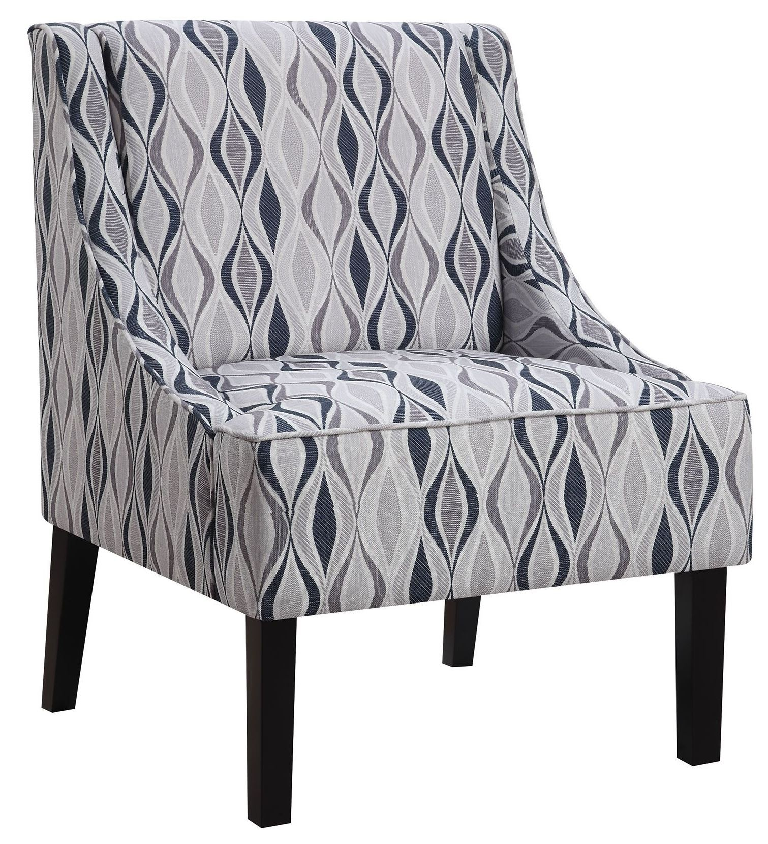blue pattern accent chair folding lulu light from coaster 902603
