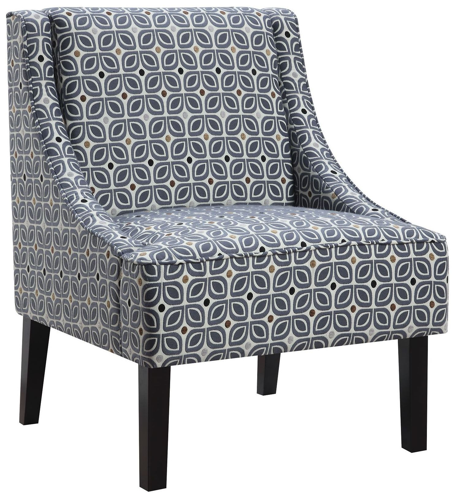 blue pattern accent chair revolving online shopping in pakistan tinted from coaster 902604