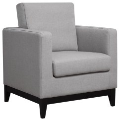 Grey And White Accent Chair Large Club Light From Coaster 902608 Coleman