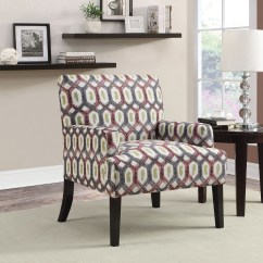 Geometric Accent Chair Plastic Stool Design Grey Pattern From Coaster 902620