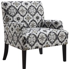 Grey And White Accent Chair Wheel Cartoon Kaleidoscope Pattern From Coaster