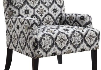 Gray Pattern Chair