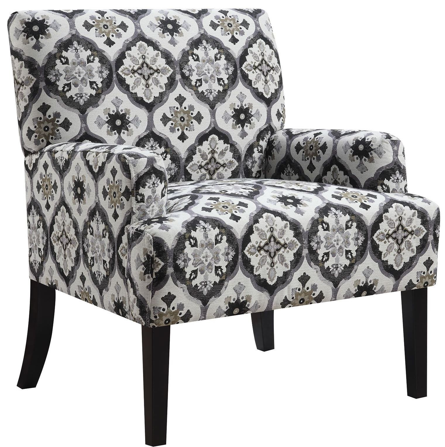 Pattern Chair Grey Kaleidoscope Pattern Accent Chair From Coaster