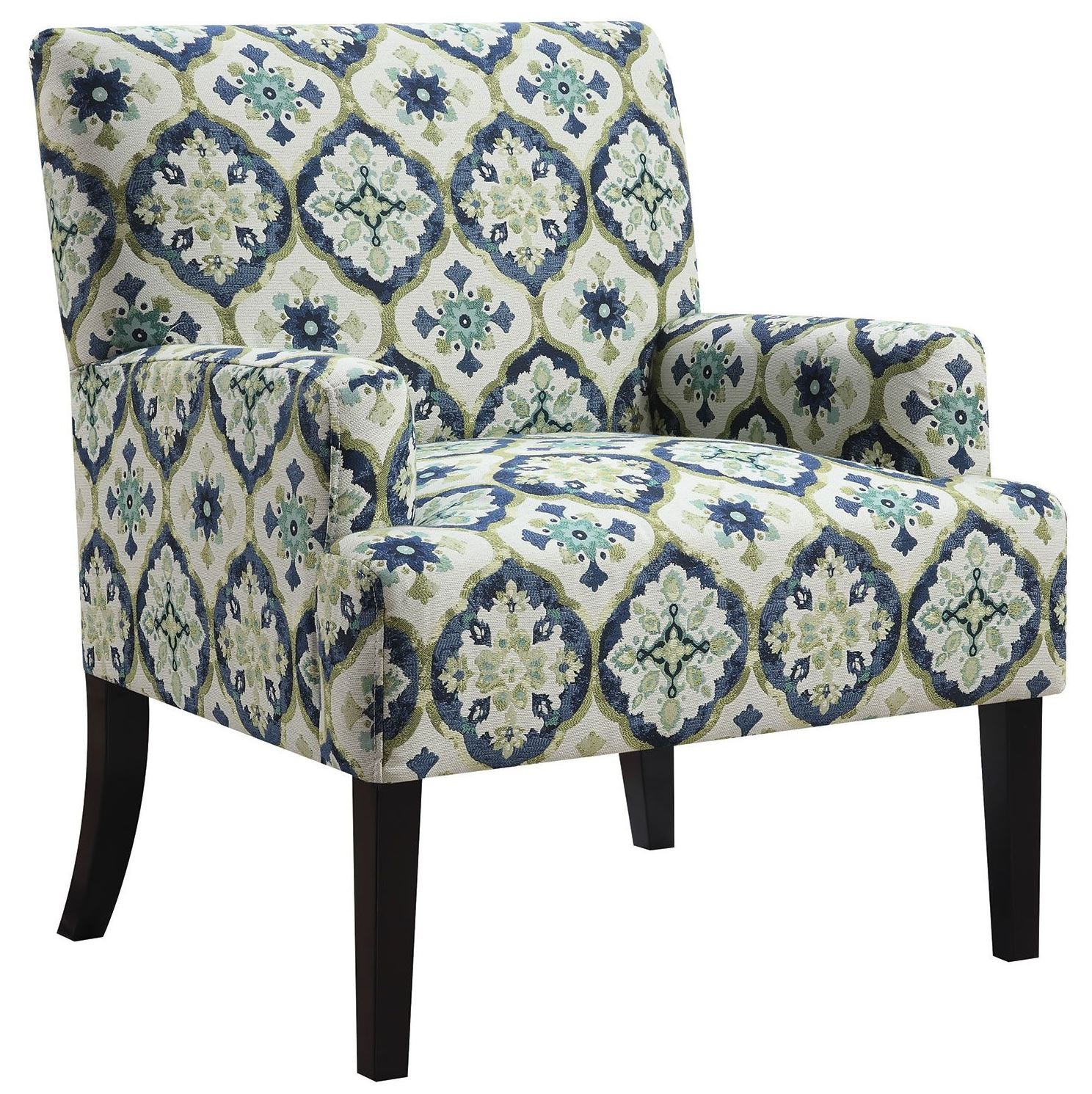 blue green chair chicco floating high and kaleidoscope pattern accent from