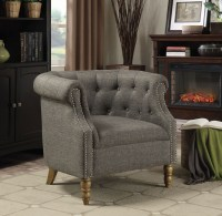 Grey Barrel Button Tufted Accent Chair from Coaster ...