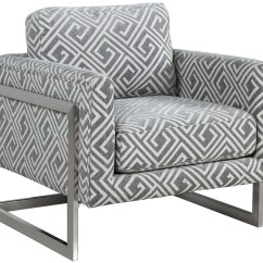Grey And White Accent Chair Belvedere Pedicure Chairs Upholstered 902786 Coaster