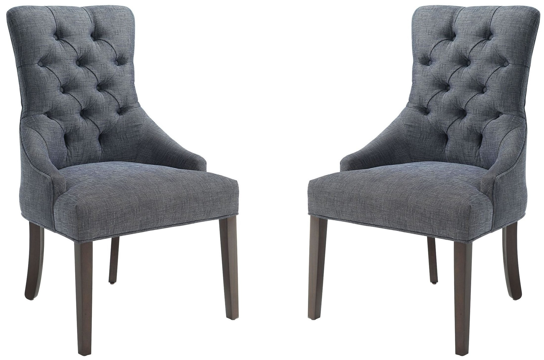 Caprice Grey Upholstered Accent Chair Set of 2 902912