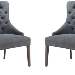 Grey And White Accent Chair Yellow Chairs Caprice Upholstered Set Of 2 902912