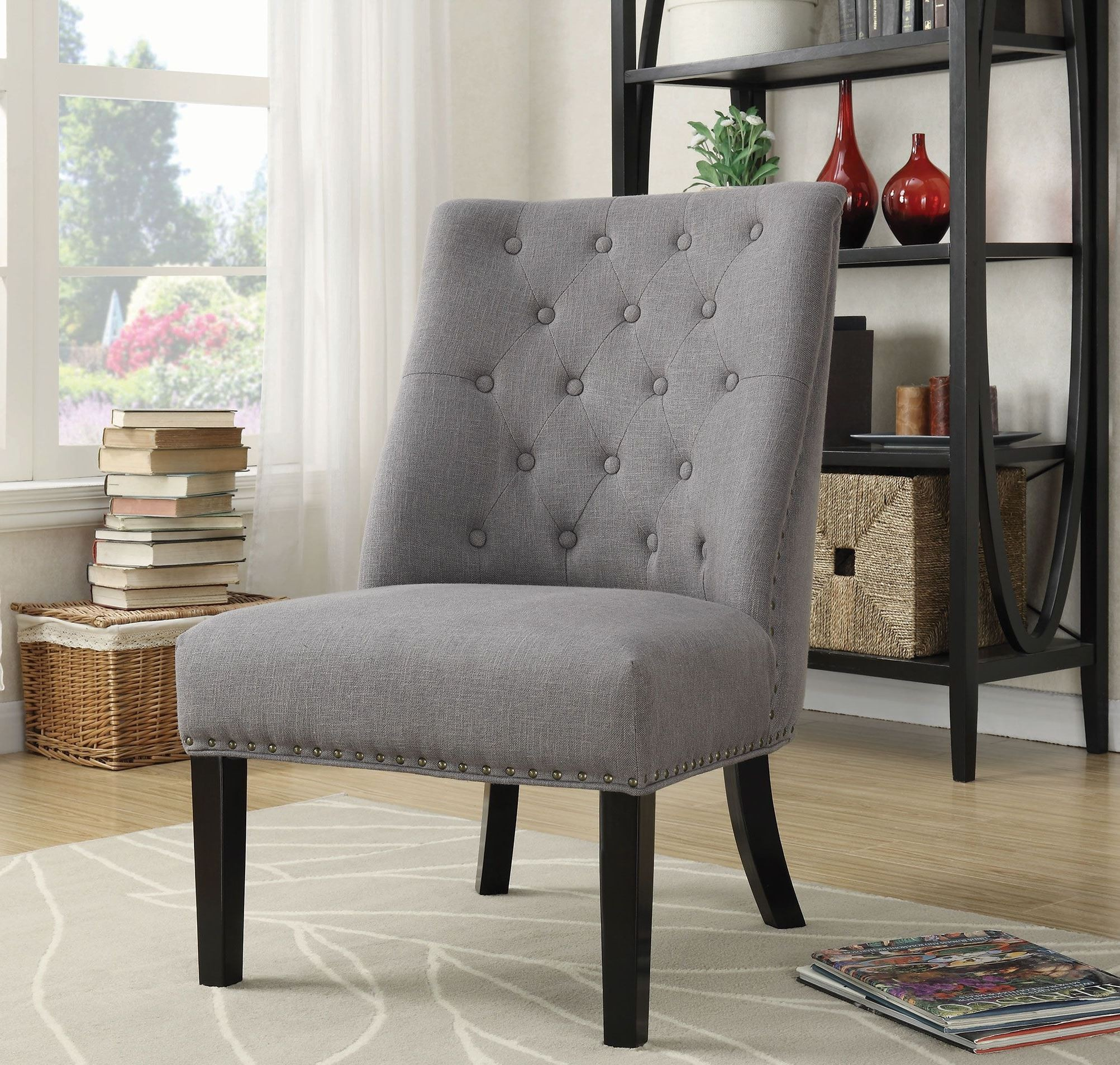 Grey Accent Chairs Grey And Black Accent Chair 902923 Coaster Furniture