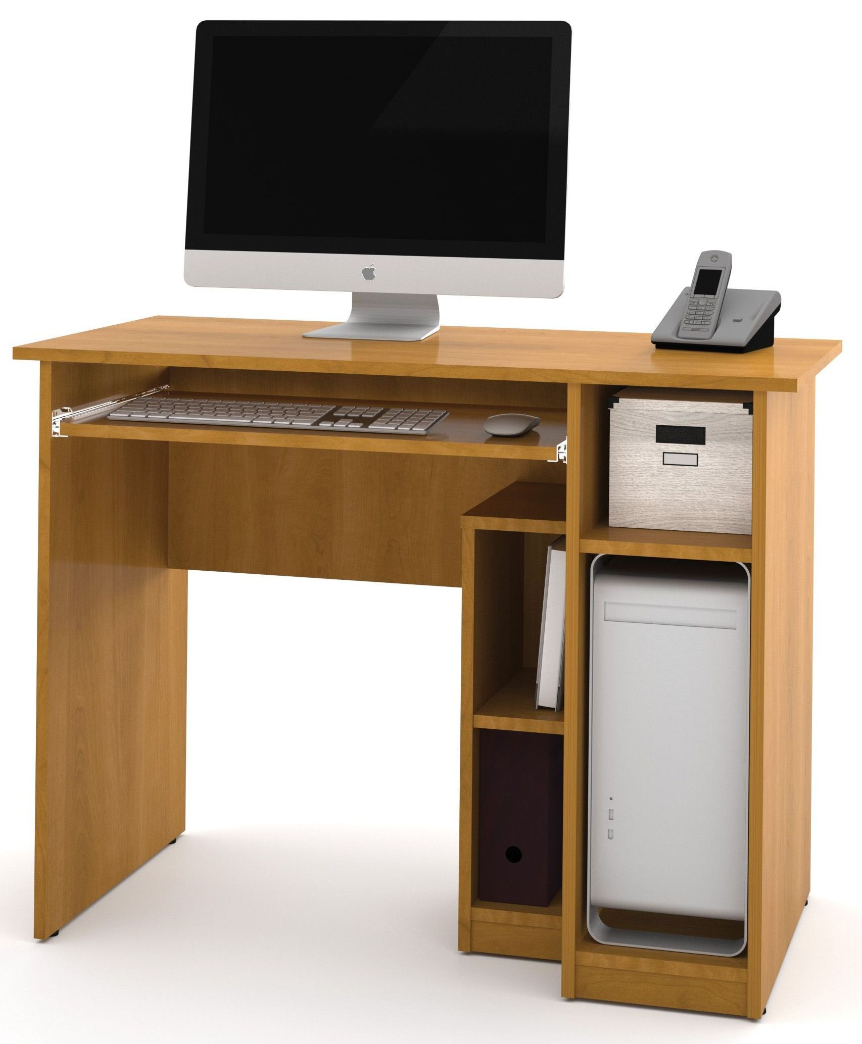 Basic Cappuccino Cherry Computer Desk from Bestar 90400