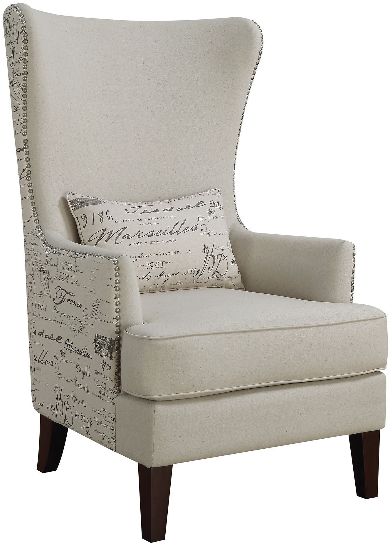 Cream Chairs Cream Accent Chair From Coaster Coleman Furniture