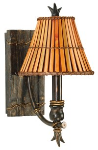 Kwai 1 Light Wall Sconce from Kenroy (90451BH) | Coleman ...