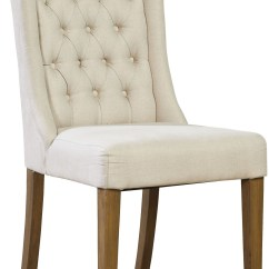 White Linen Chair Black Lounge Tufted Side Set Of 2 From Furniture
