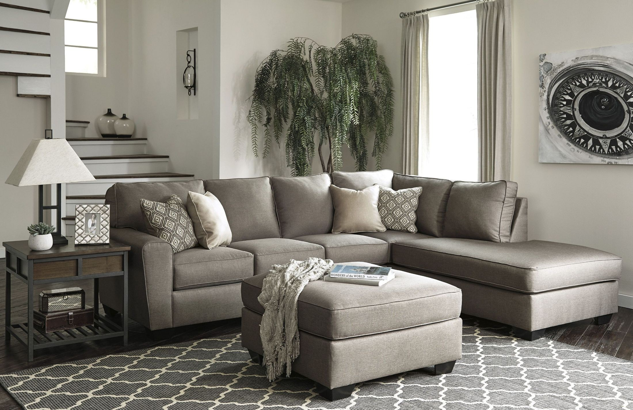 cloud 2 sectional sofa julia cupholder convertible futon bed white calicho cashmere raf from ashley | coleman furniture