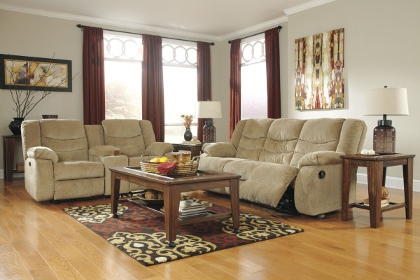 Garek Sand Reclining Living Room Set Ashley 92002-88