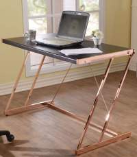 Finis Black and Rose Gold Desk from Acme | Coleman Furniture