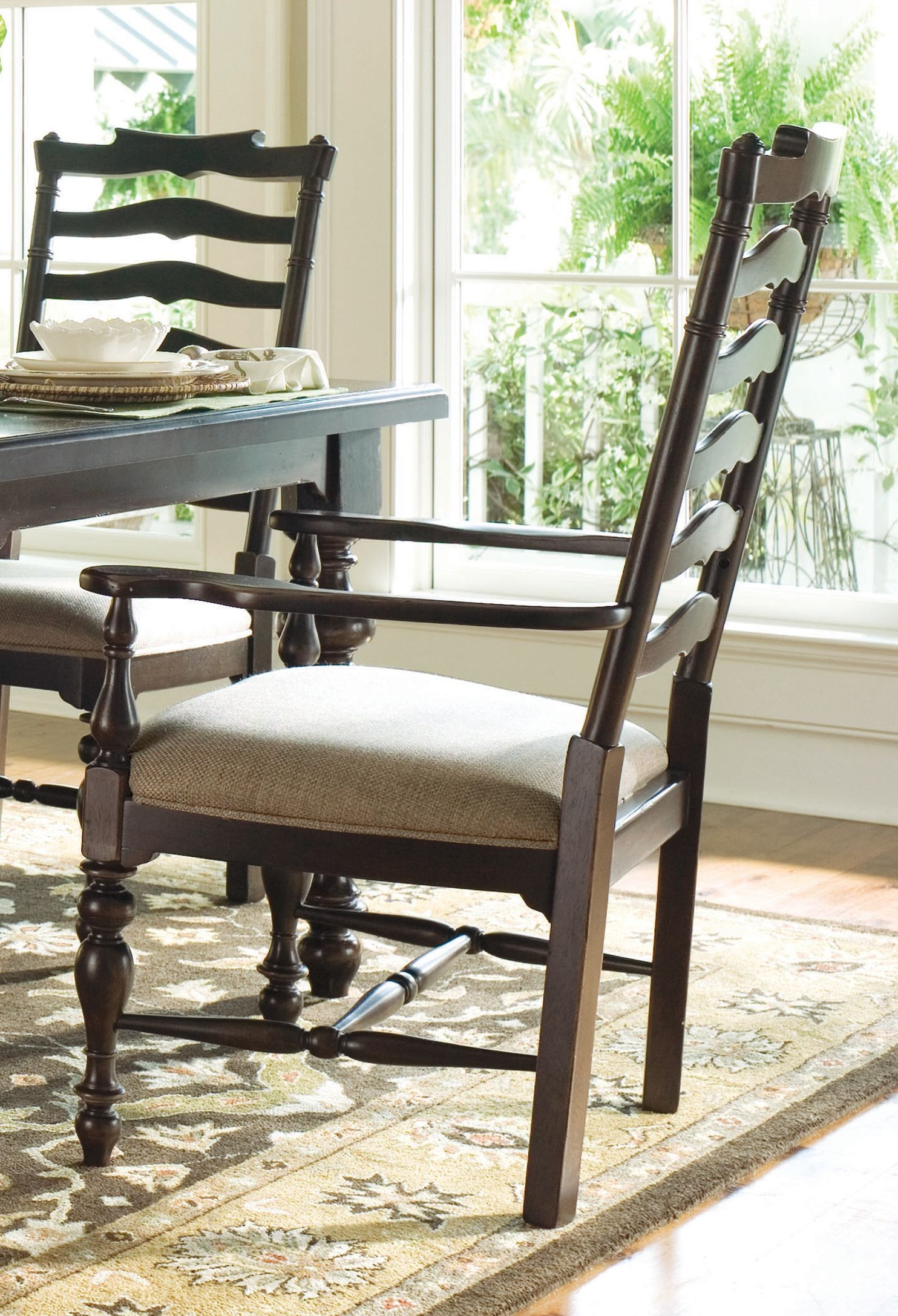 paula deen table and chairs curved chair lift home tobacco rectangular extendable dining room