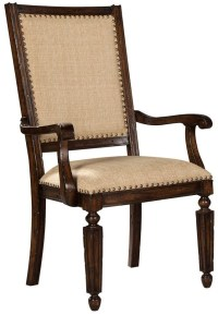 Canyon Rustic Hardwood Upholstered Arm Chair Set of 2 from ...