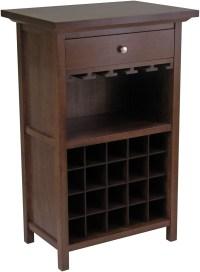 Chablis Antique Walnut Wine Cabinet, 94441, Winsome