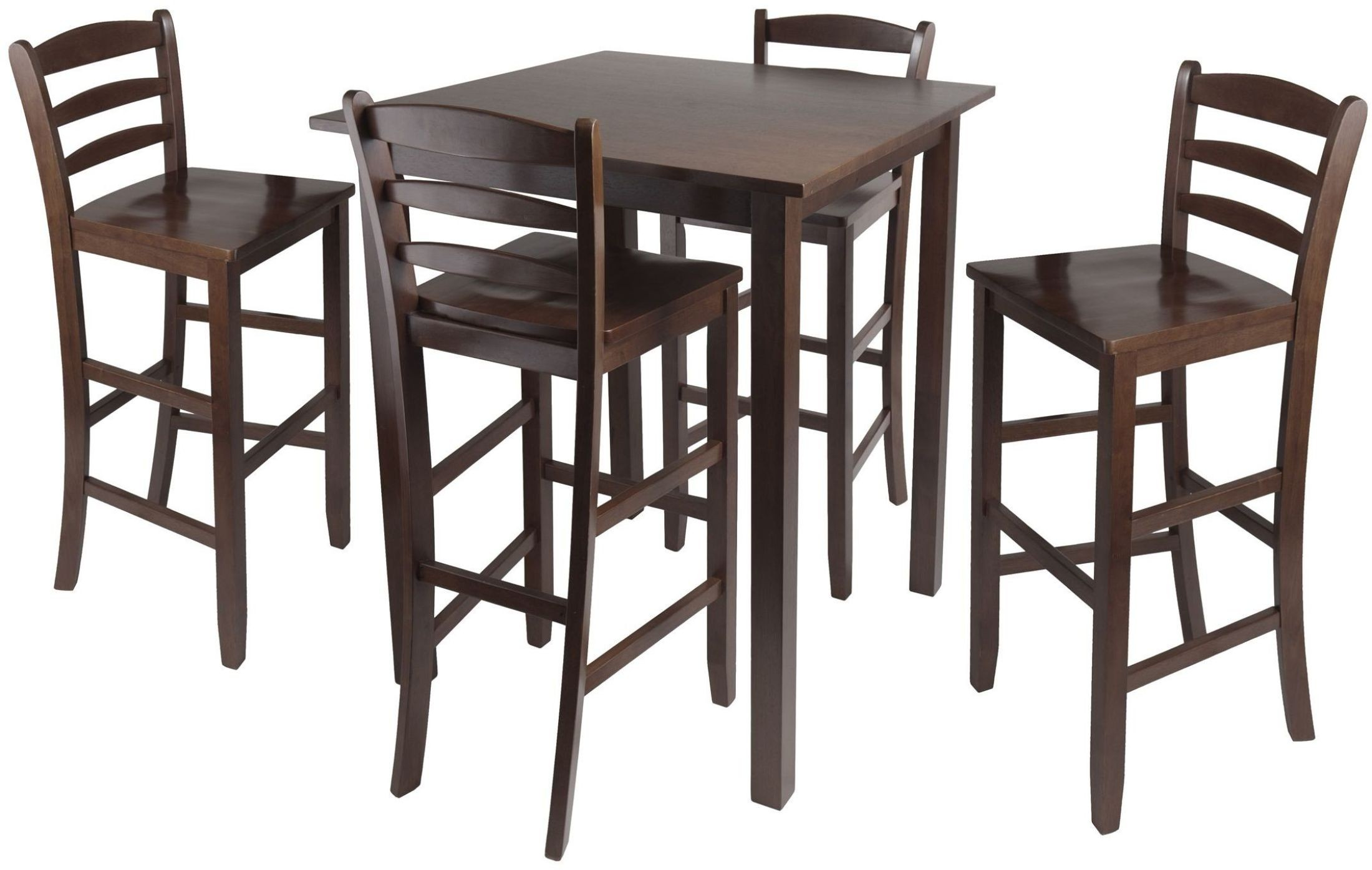 counter height chairs with back queen ann chair parkland walnut 5 piece dining set