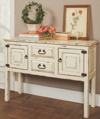 Rustic White Accent Cabinet, 950660, Coaster Furniture