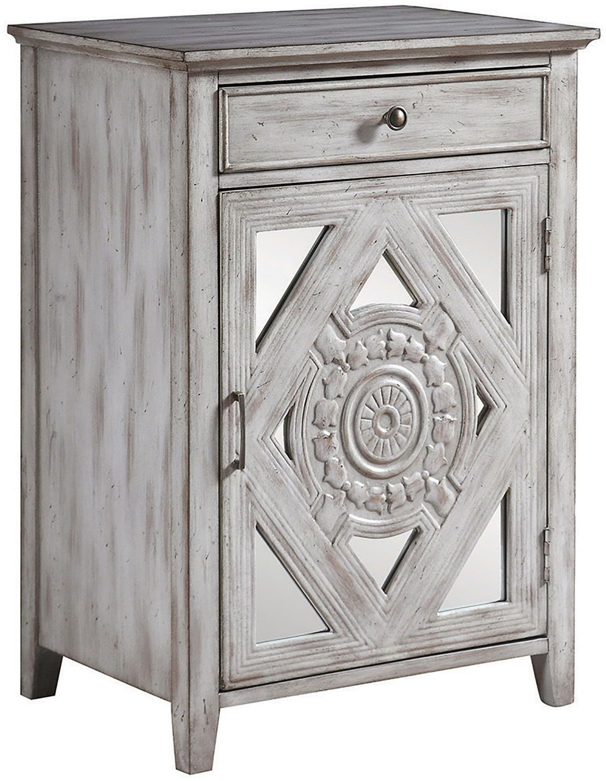 Distressed Gray Drawer Accent Cabinet from Coaster