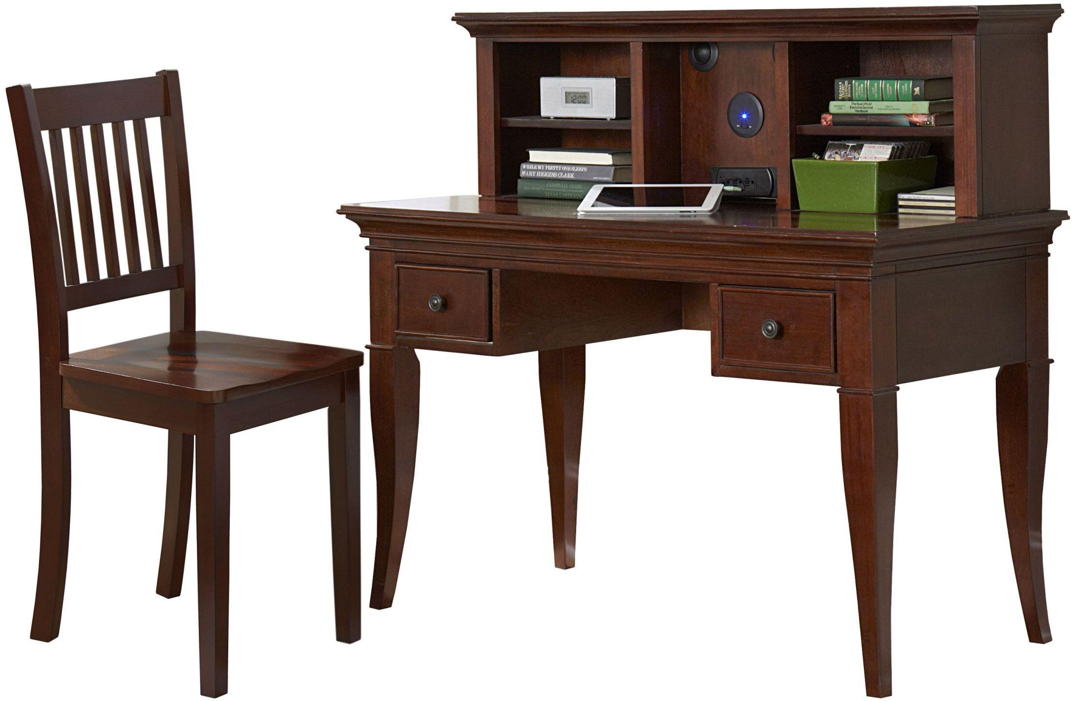 desk with chair office ottawa walnut street chestnut and hutch from ne