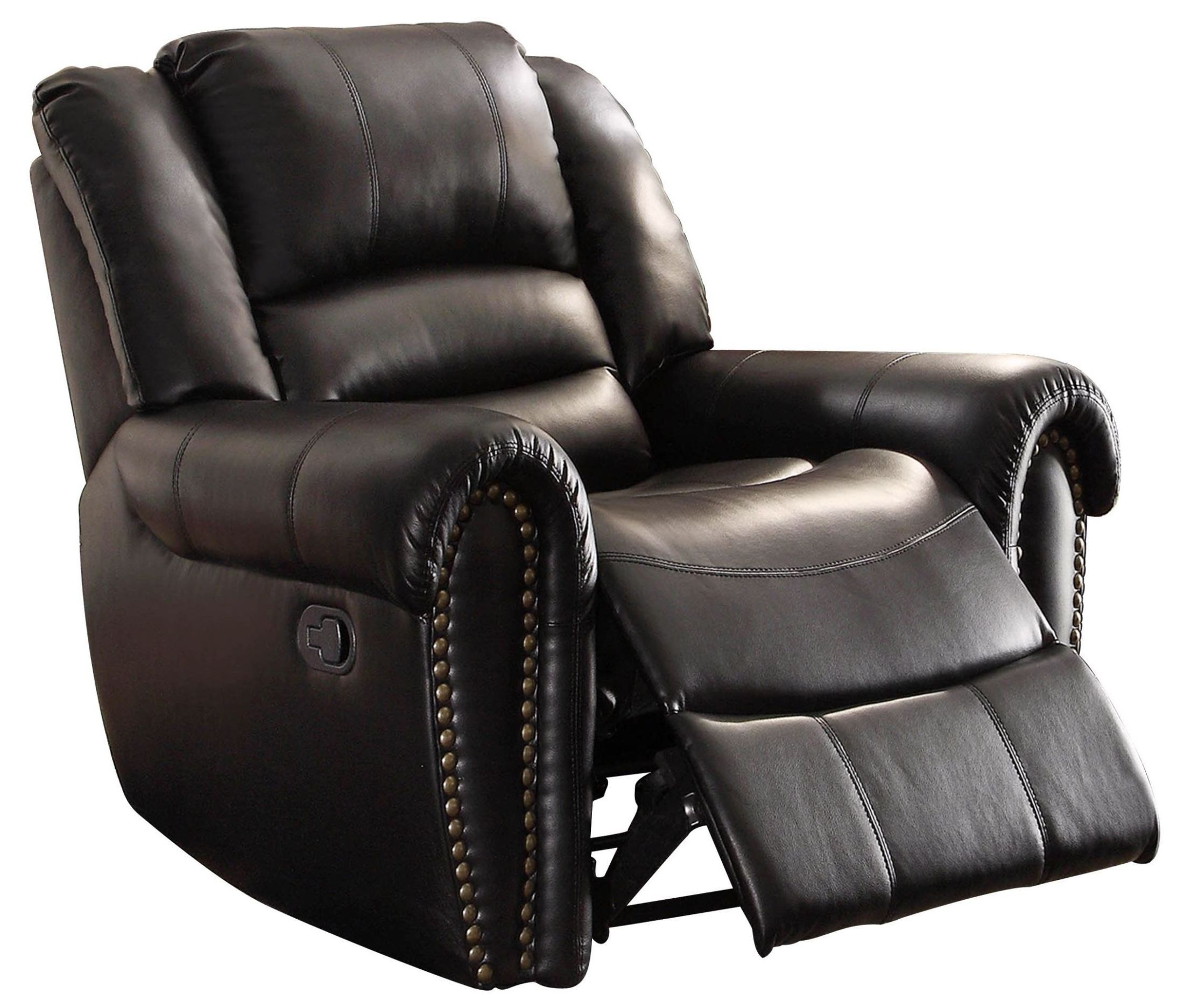 double recliner chairs sleeper chair center hill black reclining living room set from homelegance 9668blk 3 coleman furniture
