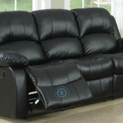 Valencia Black Recliner Leather Sofa Corner Bed With Storage Dfs Cranley Double Reclining From Homelegance