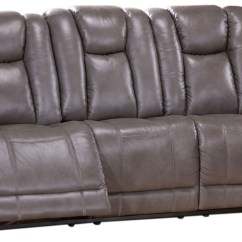 Gray Leather Sofa Recliner Bed Price In Desh Austin Smoke Grey Reclining From Amax