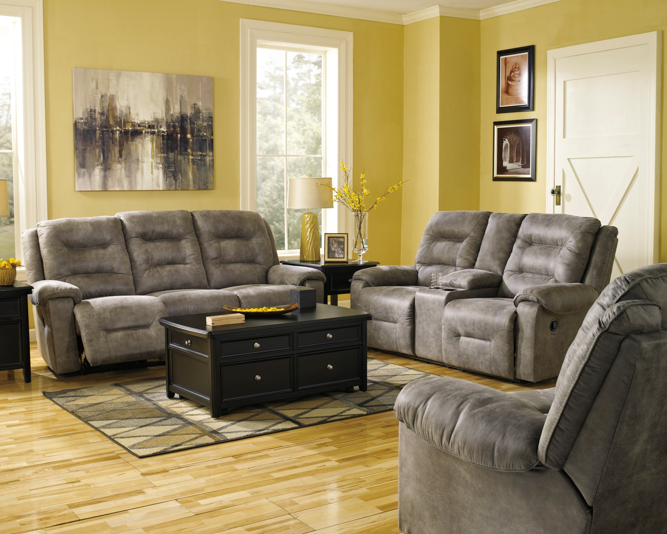 ashley living room design online rotation smoke reclining set from 97501 88 94 445517